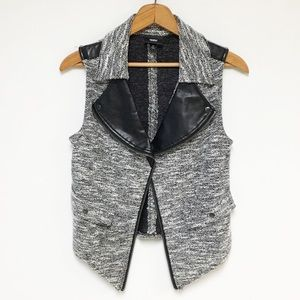 Mossimo Space Dyed Faux Leather Moto Vest 10G